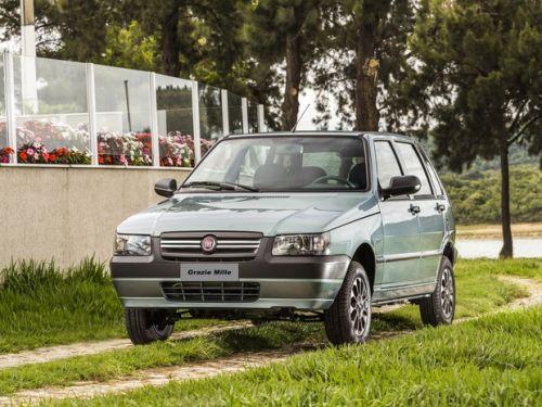 A versão especial que celebra o encerramento da produção do Uno Mille foi lançada pela Fiat (Foto: Divulgação)
