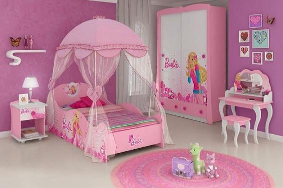 15 modelos para você decorar o quarto da filha ~ Quarto Rosa Juvenil