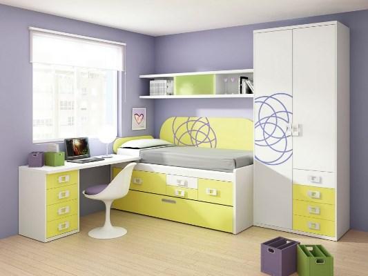 Decorações simples para quartos pequenos ~ Quarto Planejado Infantil Com Duas Camas