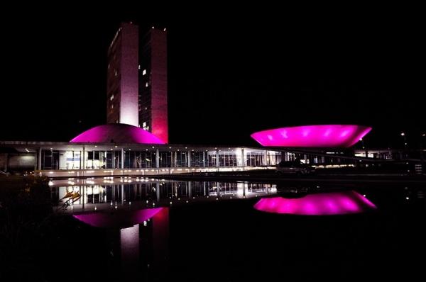 Praça dos Três poderes rosa