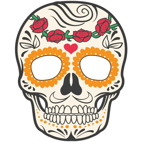 mascara de halloween caveira mexicana