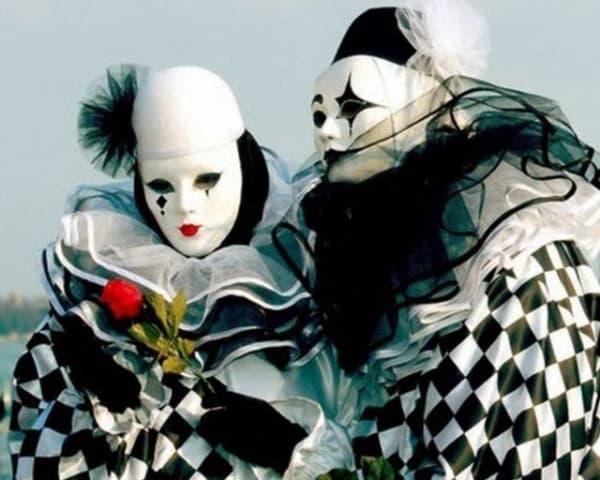 ideias de fantasias de carnaval Pierrot e colombina