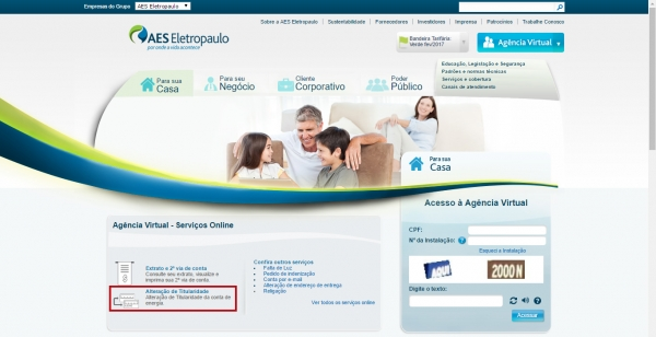 Agencia virtual eletropaulo