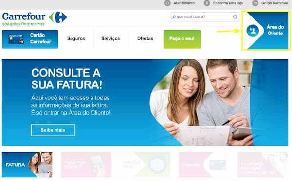 Carrefour 2ª via boleto casal conversando