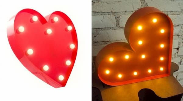 Presentes para namorado luminária led