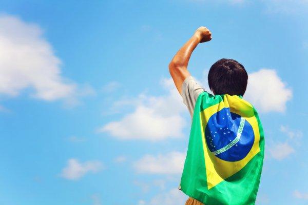 torcedor Bandeira Do Brasil