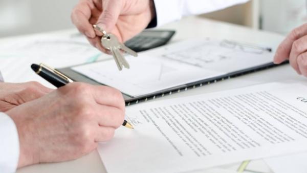 Entrega de chaves e assinatura de notificação