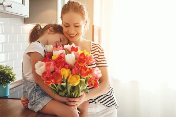Mensagens para Dia das Mães boque de tulipas