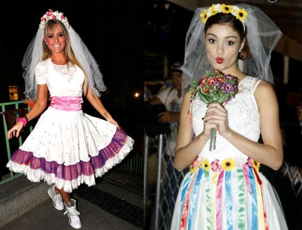 vestido de noiva de festa junina