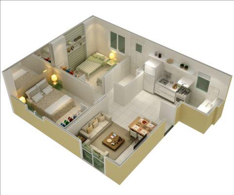 Planta de casas com 3 quartos for Casa moderna 9x9