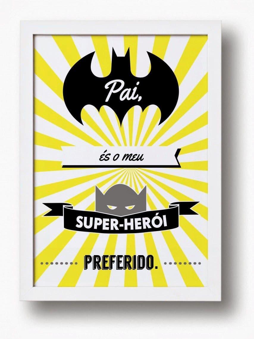 Cartão de Dia dos Pais batman