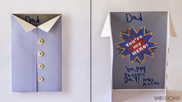 Cartão de Dia dos Pais camisa