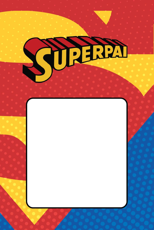 Cartão de Dia dos Pais superman 1