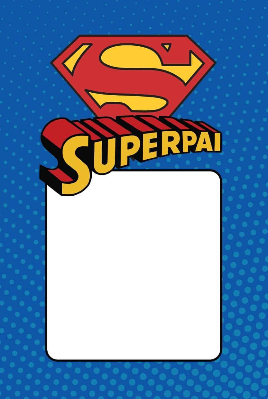 Cartão de Dia dos Pais superman 2