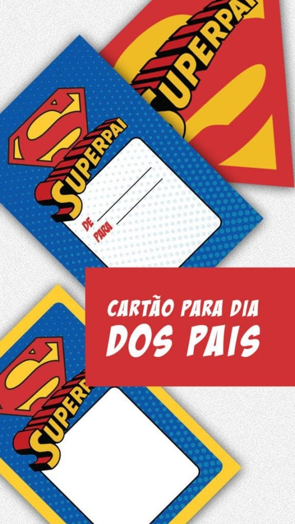 Cartão de Dia dos Pais superman