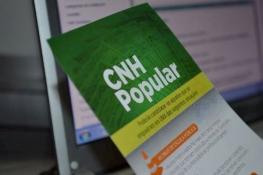 Inscrição Carteira Popular de Habilitação Grátis folheto explicativo