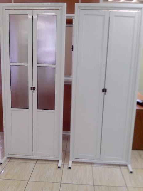 Porta Camarão de madeira branca de Vidro para Banheiro