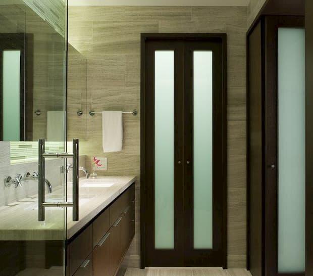 Porta Camarão de madeira de Vidro para Banheiro