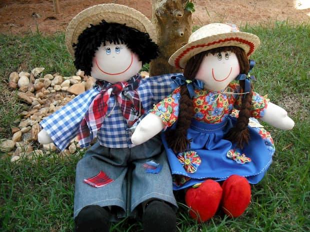 bonecos de festa junina de pano