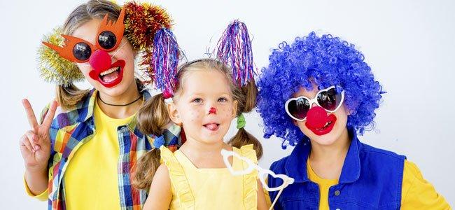 Fantasia de Carnaval para Crianças enfeitadas