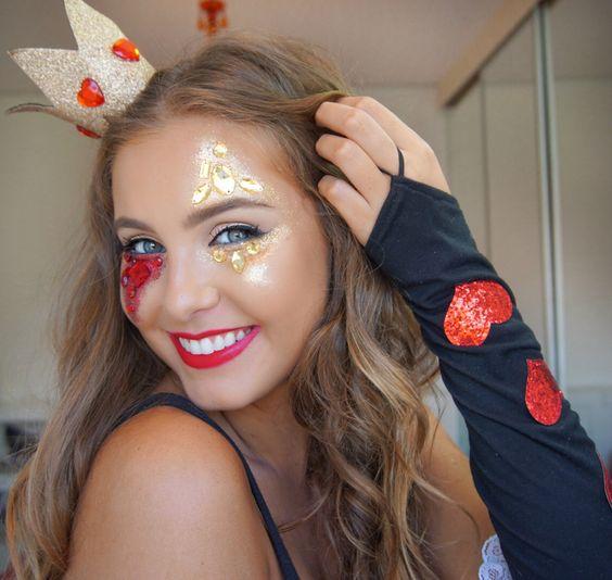 detalhes e acessórios para o rosto para o carnaval