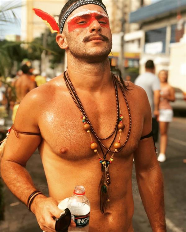 fantasia de carnaval para homem indio