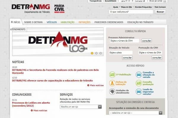 Detran MG - Site Detran NET policia civil