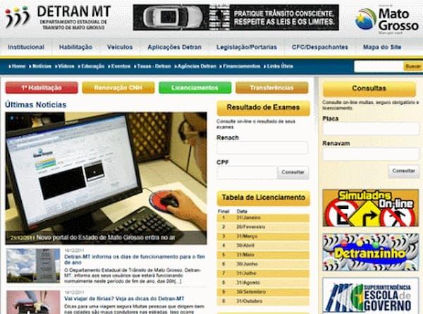 Detran MT site