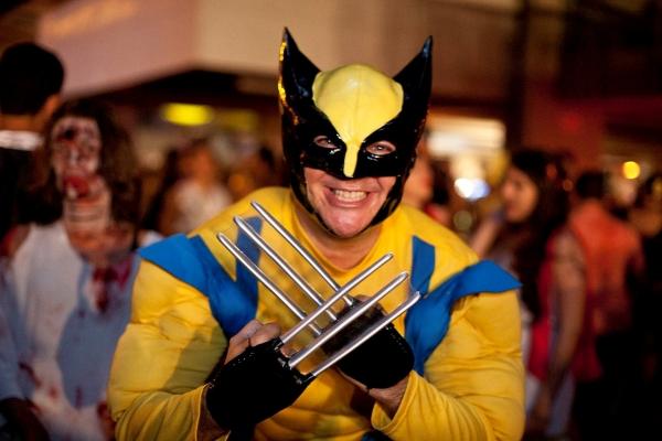 Fantasiado de Wolverine