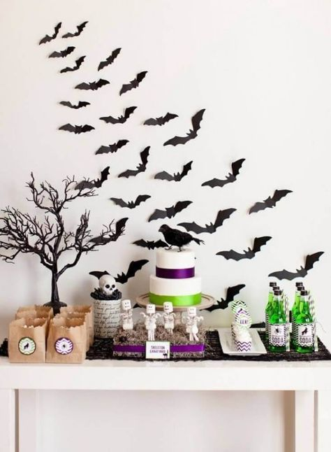decoração de mesa halloween