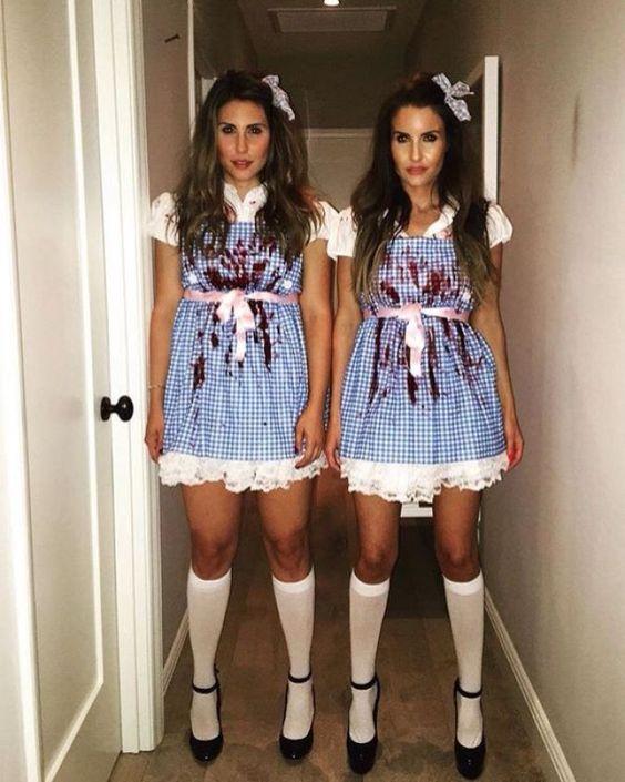 fantasia de meninas colegiais assassinas para halloween