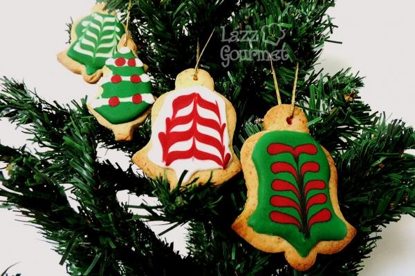 Biscoitos na árvore de natal