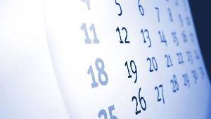Calendário Feriados 2016