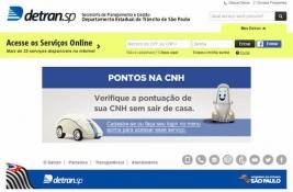Detran serviços online SP pontos na carteira