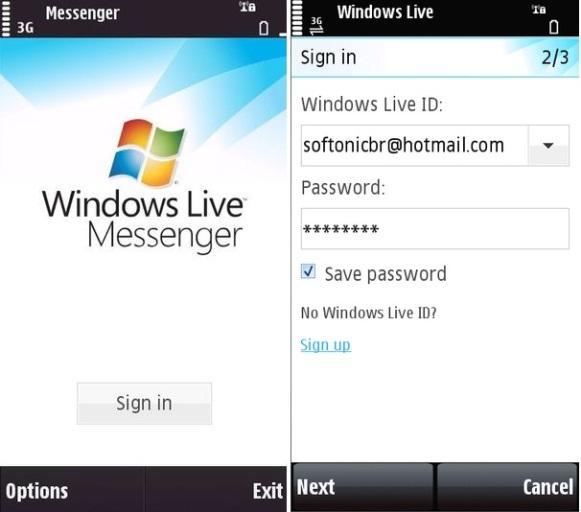 Entrar no MSN Pelo Celular