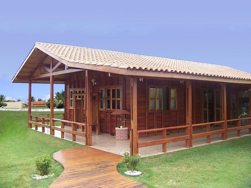 Casas de madeira pré-fabricada - fotos, preços