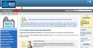 Nota Carioca serviço eletrônico