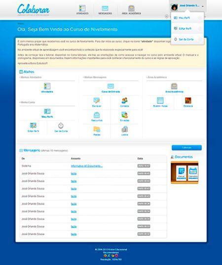 O ambiente virtual da Unopar permite que você estude online de onde estiver (Foto: Reprodução Unopar)