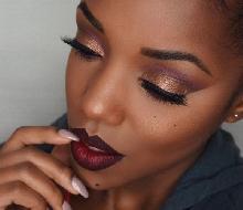 Tendências maquiagem colorida 2017 para mulheres negras