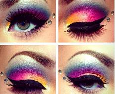 Maquiagem colorida tendências 2017 (4)