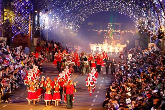 Cidade enfeitada para o Natal (Foto: Divulgação)