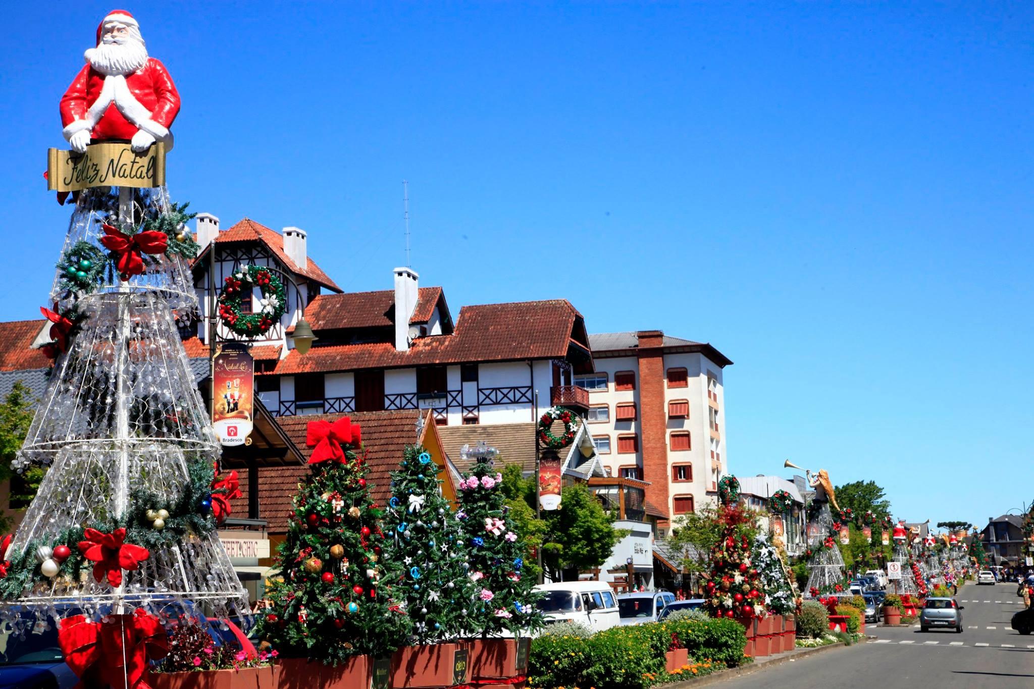 Cidade de Gramado enfeitada para receber os turistas do Natal (Foto: Divulgação)