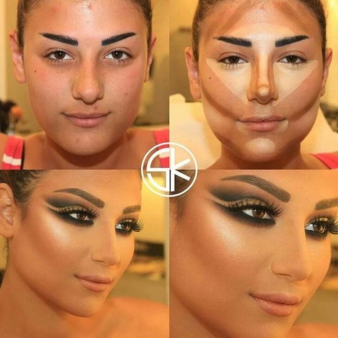 Maquiagem para afinar o rosto (Foto: divulgação)