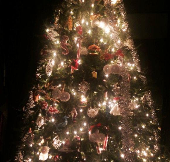 Decoração natalina da Lady Gaga (Foto: Reprodução Instagram)