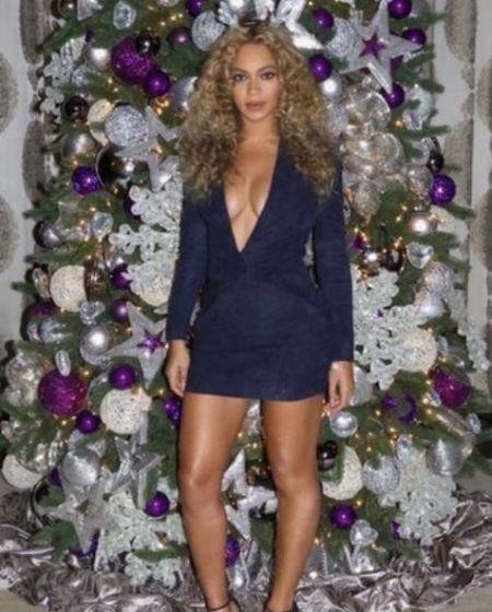 Beyoncé ganhou milhões de curtidas em suas fotos de Natal (Foto: Reprodução Instagram)