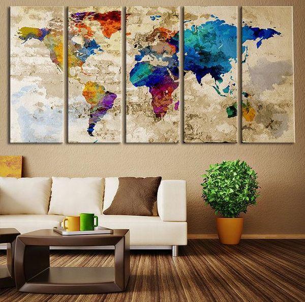 Dicas para usar mapas na decoração (Foto Ilustrativa)