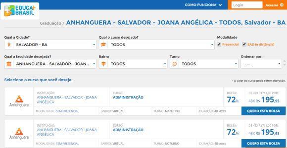 Em Salvador há muitas bolsas de estudo para o ensino superior disponíveis (Foto: Reprodução Educa Mais Brasil)