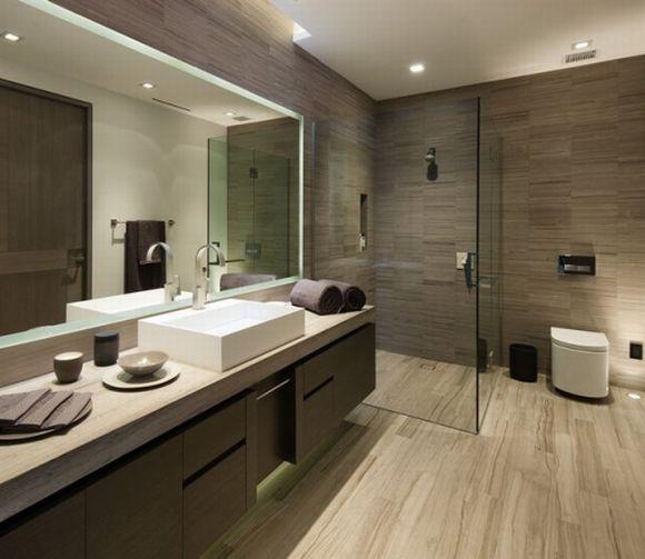 Banheiros modernos 2017 20 ideias para você usar  MundodasTribos – Todas as -> Banheiro Moderno Madeira