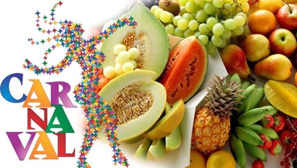 Dicas de Alimentação para o Carnaval frutas