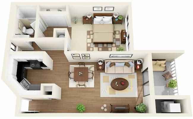 Plantas de Casas Modernas com 1 Quarto